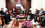 Palestinian President Mahmoud Abbas (Abu Mazen) meets with US President Donald J. Trump's envoy to the Middle East, Jason Greenblatt, in the West Bank city of Ramallah, on May 25, 2017. Photo by Osama Falah
