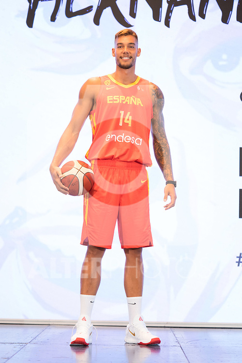 Player Willy Hernan Gomez during the official presentation of Spanish National Team of Basketball.  July 24, 2019. (ALTERPHOTOS/Francis Gonzalez)