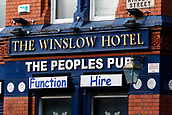 2nd December 2017, Goodison Park, Liverpool, England; EPL Premier League football, Everton versus Huddersfield Town; The famous Winsklow Hotel on a corner of Winslow Street facing the main stand at Goodison
