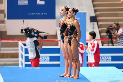 Masayo Imura (JPN), <br /> JULY 28, 2015 - Synchronised Swimming :<br /> 16th FINA World Championships Kazan 2015<br /> Duets Free Routine <br /> Preliminary <br /> at Kazan Arena in Kazan, Russia.<br /> (Photo by Yohei Osada/AFLO SPORT)