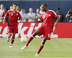21 June 2007:  Canada's Atiba Hutchinson (13). The United States Men's National Team defeated the national team of Canada 2-1 in a CONCACAF Gold Cup Semifinal match at Soldier Field in Chicago, Illinois.