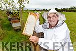 Bee keeper Pat Curran from Sunhill Honey Killorglin harvesting the honey on Tuesday