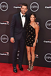 LOS ANGELES, CA - JULY 18: Aaron Rodgers (L) and Danica Patrick attend the 2018 ESPYS at Microsoft Theater at L.A. Live on July 18, 2018 in Los Angeles, California.