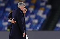 Carlo Ancelotti coach of Napoli and Allan greet each other<br /> Napoli 10-12-2019 Stadio San Paolo <br /> Football Champions League 2019/2020 Group E<br /> SSC Napoli - KRC Genk<br /> Photo Cesare Purini / Insidefoto