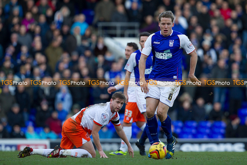 Christophe Berra of Ipswich Town surges forward - Ipswich Town vs Blackpool - Sky Bet Championship Football at Portman Road, Ipswich, Suffolk - 15/02/14 - MANDATORY CREDIT: Ray Lawrence/TGSPHOTO - Self billing applies where appropriate - 0845 094 6026 - contact@tgsphoto.co.uk - NO UNPAID USE