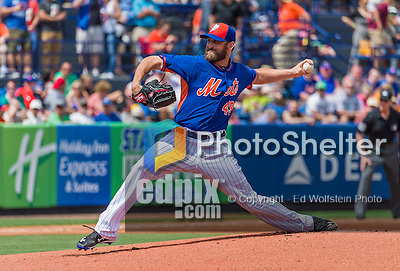 8 March 2015: New York Mets pitcher Jonathon Niese on the mound during Spring Training action against the Boston Red Sox at Tradition Field in Port St. Lucie, Florida. The Mets fell to the Red Sox 6-3 in Grapefruit League play. Mandatory Credit: Ed Wolfstein Photo *** RAW (NEF) Image File Available ***