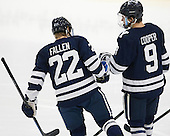 Tommy Fallen (Yale - 22), Carson Cooper (Yale - 9) - The visiting Yale University Bulldogs defeated the Harvard University Crimson 2-1 (EN) on Saturday, November 15, 2014, at Bright-Landry Hockey Center in Cambridge, Massachusetts.