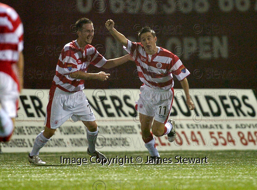 17/10/2006       Copyright Pic: James Stewart.File Name :sct_jspa06_hamilton_v_clyde.MARK GILHANEY CELEBRATES SCORING THE THIRD....Payments to :.James Stewart Photo Agency 19 Carronlea Drive, Falkirk. FK2 8DN      Vat Reg No. 607 6932 25.Office     : +44 (0)1324 570906     .Mobile   : +44 (0)7721 416997.Fax         : +44 (0)1324 570906.E-mail  :  jim@jspa.co.uk.If you require further information then contact Jim Stewart on any of the numbers above.........