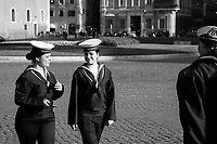 """Rome, 02/06/2019. Today, Italy celebrated the annual """"Festa Della Repubblica"""" (Republic Day, 1.). The 73rd Anniversary of the Italian Republic (*) was marked with the """"Raising the Flag Ceremony"""" and the tribute to the Sacello del Milite Ignoto (Unknown Soldier) at the Altare della Patria """"Vittoriano"""" (2.) by the President of the Italian Republic Sergio Mattarella, followed by the traditional army, veterans and civilians parade along Via Dei Fori Imperiali. This year, the President of the Republic was accompanied by the Defence Minister Elisabetta Trenta, the Italian Prime Minister Giuseppe Conte, the Presidents of the two Chambers of the Parliament, Roberto Fico and Maria Elisabetta Alberti Casellati, several members of the Italian Government, political leaders, senior officers of the Armed Forces and representatives of the Civilian Organizations. At the end of the events the Frecce Tricolori, the Italian Aerobatic Team, coloured the sky over Rome with the Tricolore (Tricolour: Green, White, Red) of the Italian Flag. The theme for this year's event was inclusiveness. <br /> <br /> Footnotes and Links:<br /> (*) The Referendum was held on 2 June 1946 and it marked the decision made by the Italian people to adopt the Republic as the new institutional form for the Country. <br /> 1. http://bit.do/eT8By (ITA) & http://bit.do/eT8Bv (ENG) at https://www.difesa.it/<br /> 2. http://bit.do/eT8BG (Wikipedia)"""