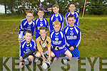 Members of the Abbeyfeale AFC U10's who took part in the underage soccer tournament held in the local soccer pitch in Mountcollins last Saturday. F l-r: Jamie Quirke, Dylan Brosnan, Patrick Smith, Killian Healey. B l-r: Aaron Lee, Ethan Sweeney, Bevan Scannell, Rory O'Brien