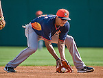 10 March 2014: Houston Astros infielder Carlos Correa warms up prior to a Spring Training game against the Washington Nationals at Space Coast Stadium in Viera, Florida. The Astros defeated the Nationals 7-4 in Grapefruit League play. Mandatory Credit: Ed Wolfstein Photo *** RAW (NEF) Image File Available ***