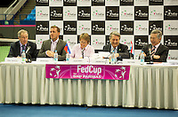 Moskou, Russia, Februari 4, 2016,  Fed Cup Russia-Netherlands,  Draw Ceremony<br /> Photo: Tennisimages/Henk Koster