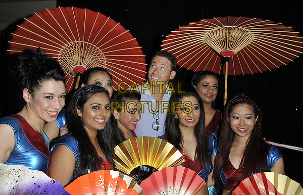 LONDON, ENGLAND - JANUARY 19: Joe Swash &amp; dancers at the Mad Hatter's Tea Party organised by the London Taxi Drivers' Fund to help underprivileged children, Grosvenor House Hotel, Park Lane, on Sunday January 19, 2014 in London, England, UK. <br /> CAP/CAN<br /> &copy;Can Nguyen/Capital Pictures