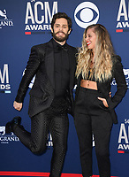 LAS VEGAS, NV - APRIL 7: Thomas Rett and Lauren Akins attend the 54th Annual ACM Awards at the Grand Garden Arena on April 7, 2019 in Las Vegas, Nevada. <br /> CAP/MPIIS<br /> &copy;MPIIS/Capital Pictures