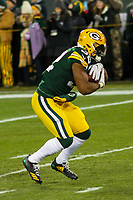 Green Bay Packers running back Devante Mays (32) during a National Football League game against the Minnesota Vikings on December 23rd, 2017 at Lambeau Field in Green Bay, Wisconsin. Minnesota defeated Green Bay 16-0. (Brad Krause/Krause Sports Photography)