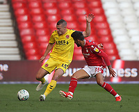 Fleetwood Town's Paul Coutts \battles with Nottingham Forest's Tiago Silva<br /> <br /> Photographer Mick Walker/CameraSport<br /> <br /> The Carabao Cup First Round - Nottingham Forest v Fleetwood Town - Tuesday 13th August 2019 - The City Ground - Nottingham<br />  <br /> World Copyright © 2019 CameraSport. All rights reserved. 43 Linden Ave. Countesthorpe. Leicester. England. LE8 5PG - Tel: +44 (0) 116 277 4147 - admin@camerasport.com - www.camerasport.com