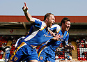 Charlie Griffin of Stevenage Borough celebrates scoring the first goal with Scott Laird during the Blue Square Premier match between Kidderminster Harriers and Stevenage Borough at the Aggborough Stadium, Kidderminster on Saturday 17th April, 2010..© Kevin Coleman 2010 Charlie Griffin of Stevenage Borough (l) celebrates scoring the first goal with Scott Laird during the Blue Square Premier match between Kidderminster Harriers and Stevenage Borough at the Aggborough Stadium, Kidderminster on Saturday 17th April, 2010..© Kevin Coleman 2010