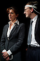 "London, UK. 19/04/2011. ""Sold"", by Suzie Miller, opens at theatre503, London. Picture shows Abigail Thaw (as Hilary) and Jamie de Courcey (as Stan). Photo credit should read: JANE HOBSON"