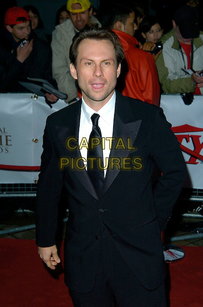 CHRISTIAN SLATER.National Movie Awards, Royal Festival Hall, London, England..September 28th, 2007.half length black suit jacket hand in pocket .CAP/CAN.©Can Nguyen/Capital Pictures