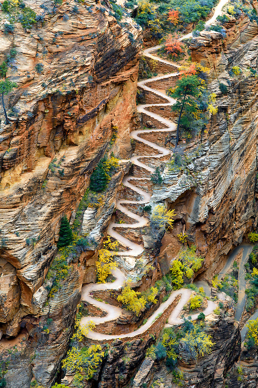 Walter's Wiggles. Zion National Park, Utah
