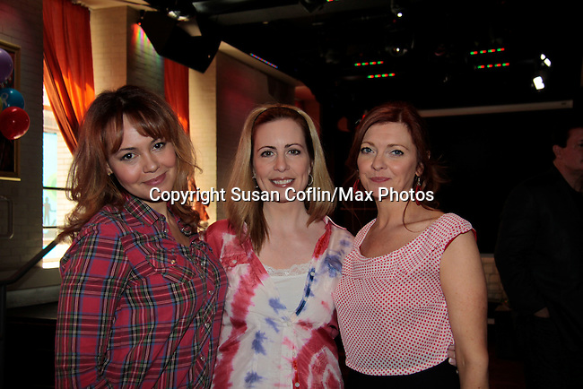 Lauren B. Martin - Martha Bryne - Anne Sayre  - 11th Annual Daytime Stars & Strikes Event for Autism - 2015 on April 19, 2015 hosted by Guiding Light's Jerry ver Dorn (& OLTL) and Liz Keifer at Bowlmor Lanes Times Square, New York City, New York. (Photos by Sue Coflin/Max Photos)