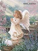 Dona Gelsinger, CHILDREN, paintings, angel, rabbit, flowers(USGEBX0704,#K#) Kinder, niños, illustrations, pinturas angels, ,everyday