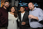 From left: Shawn Burton, Dina Ybanez, Jose Zeledon-Castillo and Tadd Loebbaka at the Married to Medicine Houston premier party at VrSi Thursday Nov. 10, 2016.(Dave Rossman photo)
