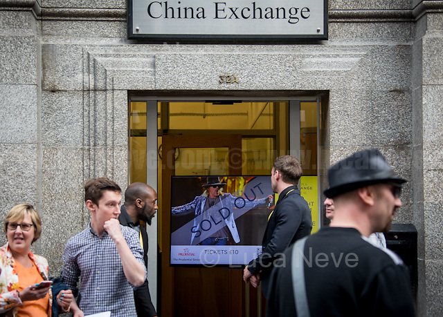 London, 07/06/2016. Today, Axl Rose, historical lead singer and founder of the Guns N' Roses and current guest vocalist on the AC/DC tour, attended a meeting called &quot;60 Minutes with Axl Rose&quot; at China Exchange.<br /> <br /> For more information please clik here: http://www.gunsnroses.com/