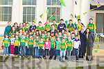 125: Darren O'Sullivan capt of the Kerry Team paid a coutsey visit to Fylough N.S.Keel, Castlemaine on Friday to mark 125 of the GAA in Ireland....