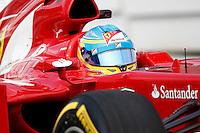 ATENCAO EDITOR IMAGEM EMBARGADA PARA VEICULO INTERNACIONAL - SAO PAULO, SP, 06 OUTUBRO DE 2012 - FORMULA 1 GP JAPAO -  O piloto espanhol Fernando Alonso da equipe Ferrari durante treino classificatorio nesta sabado, 06, para o Grande Premio do Japao que acontece amanha em Suzuka no Japao. FOTO: PIXATHLON / BRAZIL PHOTO PRESS)