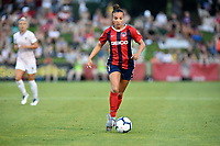 BOYDS, MD - JULY 20: Washington Spirit forward Mallory Mal Pugh (11) looks upfield while dribbling during the National Women's Soccer League (NWSL) game between the Houston Dash and Washington Spirit July 20, 2019 at Maureen Hendricks Field at Maryland SoccerPlex in Boyds, MD. (Photo by Randy Litzinger/Icon Sportswire)