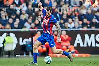 4th January 2020; Mestalla, Valencia, Spain; La Liga Football,Valencia versus Eibar; Sergi Enrich of Eibar controls the ball as he attacks the goal - Editorial Use