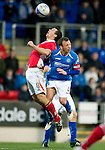 St Johnstone v Brechin...07.01.12  Scottish Cup Round 4.Jody Morris fouls Craig Molloy.Picture by Graeme Hart..Copyright Perthshire Picture Agency.Tel: 01738 623350  Mobile: 07990 594431