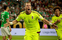 HOUSTON - UNITED STATES, 13-06-2016: Juan Manuel Velasquez jugador de Venezuela (VEN) celebra después de anotar un gol a Mexico (MEX) durante partido del grupo C fecha 3 por la Copa América Centenario USA 2016 jugado en el estadio NRG en Houston, Texas, USA. /  Juan Manuel Velasquez player of Venezuela (VEN) celebrates after scoring a goal to Mexico (MEX) during match of the group A date 3 for the Copa América Centenario USA 2016 played at NRG stadium in Houston, Texas ,USA. Photo: VizzorImage/ Luis Alvarez /Str
