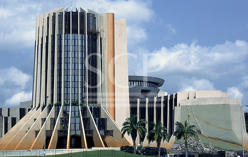 Libreville, Gabon. Modern office building of Axa Colonia insurance company.