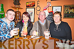 LA CARTE: Out in Tequilla Restaurant, Barrack Lane, Tralee to bring in the Nerw Year on Friday night, L-r:Peter O'Donoghue,Aisling Healy,Terry and Mary Flaherty(Tralee)...... . ............................... ..........