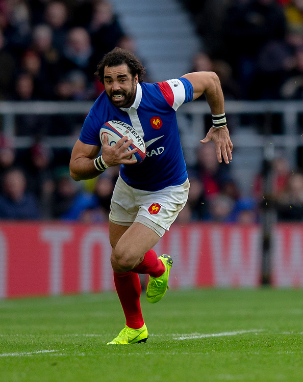 France's Yoann Huget<br /> <br /> Photographer Bob Bradford/CameraSport<br /> <br /> Guinness Six Nations Championship - England v France - Sunday 10th February 2019 - Twickenham Stadium - London<br /> <br /> World Copyright &copy; 2019 CameraSport. All rights reserved. 43 Linden Ave. Countesthorpe. Leicester. England. LE8 5PG - Tel: +44 (0) 116 277 4147 - admin@camerasport.com - www.camerasport.com