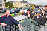 Killarney Taxi drivers who will be holding a Go-slow protest on Wednesday l-r: Kevin Moriarty, Eddie Williams, Brendan Breen, David O'Sullivan, Pat O'Brien and Timmy Loughnane