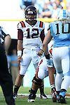 04 October 2014: Virginia Tech's Michael Brewer. The University of North Carolina Tar Heels hosted the Virginia Tech Hokies at Kenan Memorial Stadium in Chapel Hill, North Carolina in a 2014 NCAA Division I College Football game. Virginia Tech won the game 34-17.