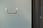 A filing cabinet handle