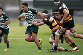 imothy Taefu makes a break past Counties Manukau Club Rugby game between Manurewa and Bombay played at Mountfort Park Manurewa on Saturday June 2nd 2018. Bombay won the game 27 - 20 after leading 20 - 5 at halftime. <br /> Manurewa Kidd Contracting 20 - Caleb Fa'alili, William Raea, Willie Tuala, Viliami Taulani tries.<br /> Bombay 27 - Liam Daniela, Sepuloni Taufa, Talaga Alofipo tries, Ki Anufe 3 conversions, Ki Anufe 2 penalties.<br /> Photo by Richard Spranger.