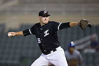 Kannapolis Intimidators relief pitcher Drew Hasler (35) in action against the Asheville Tourists at Kannapolis Intimidators Stadium on May 27, 2016 in Kannapolis, North Carolina.  The Tourists defeated the Intimidators 7-6.  (Brian Westerholt/Four Seam Images)