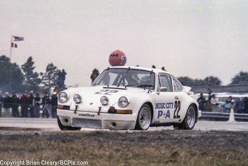 #22 Porsche 911 of  Bill Harriss, Volker Bruckmann, and Ron Southern 21st place finish, 1978 24 Hours of Daytona, Daytona International Speedway, Daytona Beach, FL, February 5, 1978.  (Photo by Brian Cleary/www.bcpix.com)
