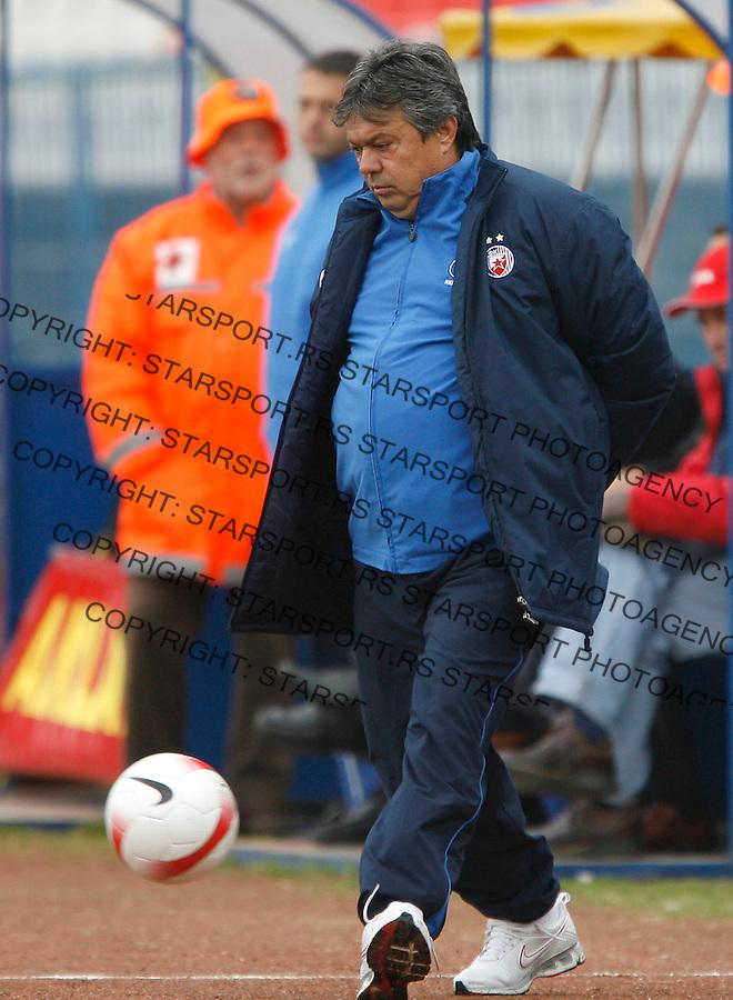 Fudbal, Meridijan super liga, sezona 2007/08.OFK Beograd Vs. Crvena Zvezda.head coach Milorad Kosanovic.Beograd, 21.10.2007..foto: Srdjan Stevanovic