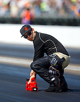 Sep 2, 2017; Clermont, IN, USA; NHRA funny car driver Jonnie Lindberg during qualifying for the US Nationals at Lucas Oil Raceway. Mandatory Credit: Mark J. Rebilas-USA TODAY Sports