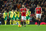 Juan Mata of Manchester United dejected as Norwich celebrates the opening goal - Manchester United vs Norwich City - Barclays Premier League - Old Trafford - Manchester - 19/12/2015 Pic Philip Oldham/SportImage