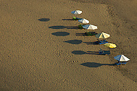 Graphic Umbrellas Sunset at Kuta Beach