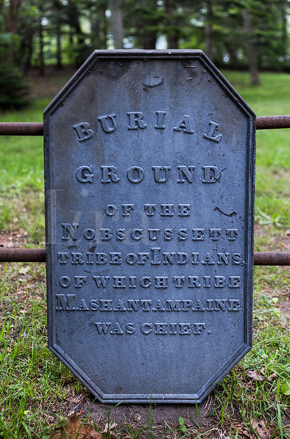 Nobcusssett tribe burial grounds, Brewster, Cape Cod, Massachusetts, USA.