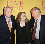 Brian Dennehy, Mia Farrow, and playwright A. R. Gurney attend the 'Love Letters' Broadway Opening Night after party at Brasserie 8 1/2 on September 18, 2014 in New York City.