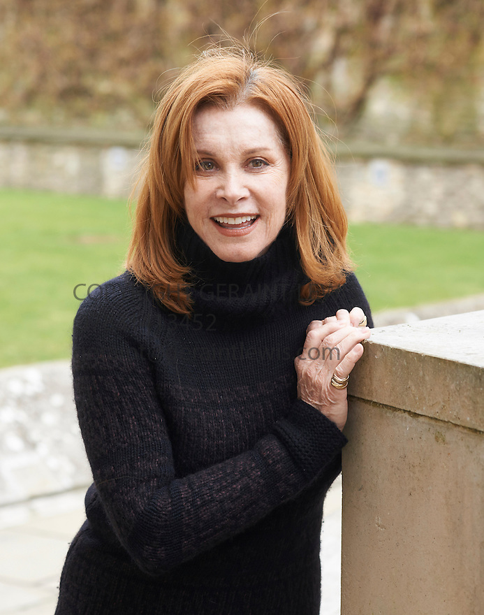 Stefanie Powers Film Actress at Christchurch College Oxford  at The Oxford  Literary Festival   2013. Credit Geraint Lewis